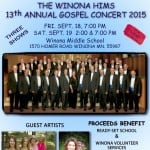 Thank you Winona Hims for your Concerts  benefitting Winona Volunteer Services and Ready Set School