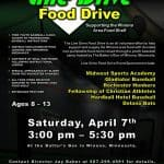 Food Drive at The Batter's Box on April 7th