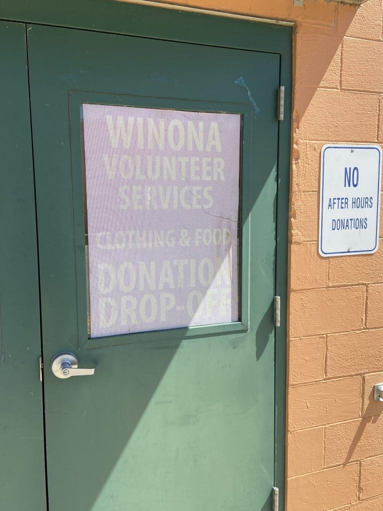 Winona Donation Door